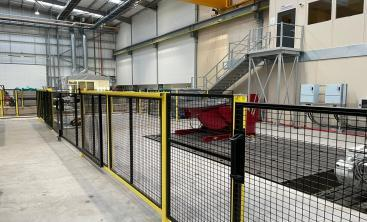 Sponmech Safety Fencing at SULZER's new factory, UK