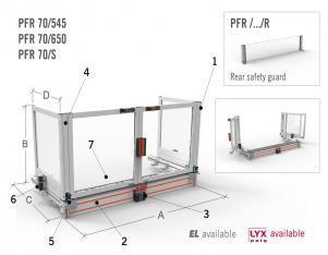 Bi-folding Table Guard for Milling Machines
