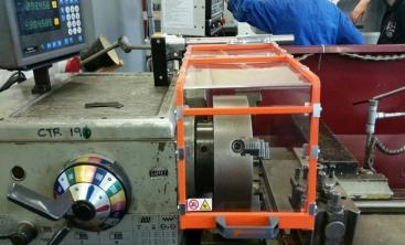 {Lathe Chuck Guard suitable for Small Lathes}